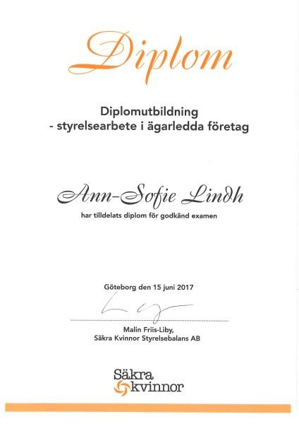 Diplomutbildning - styrelsearbete i agarladda foretag 2017jpg